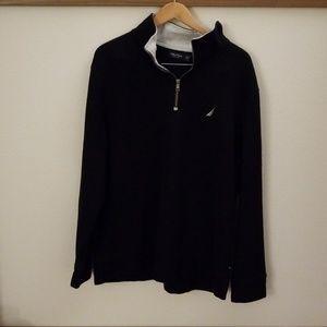 Mens Nautica Fleece Pullover 1/4 Zip XXL 🔥